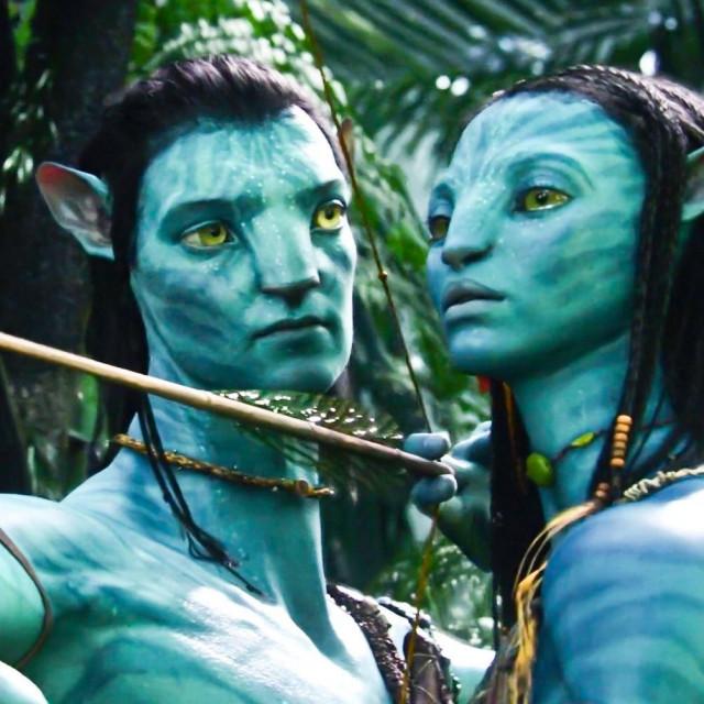 Sam Worthington i Zoe Saldana u sceni iz filma Avatar