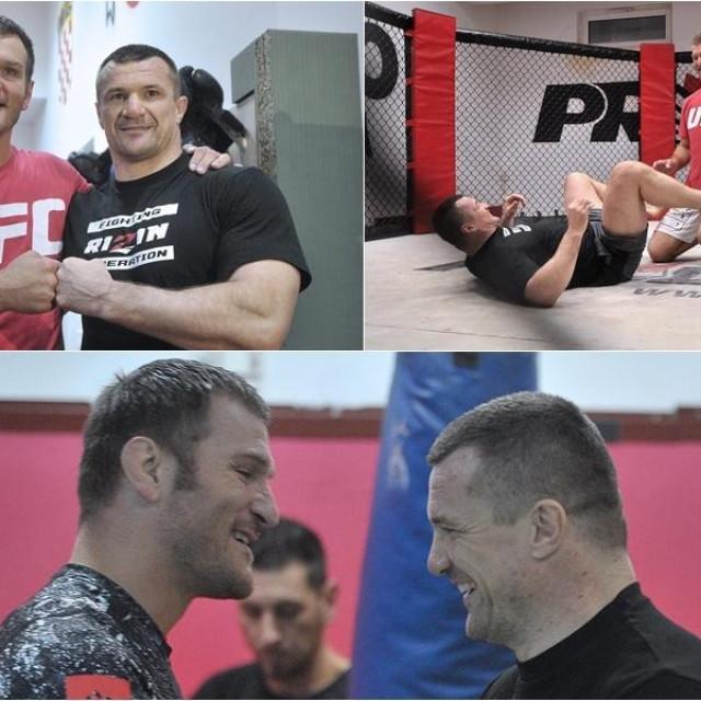 Stipe Miočić i Mirko Filipović