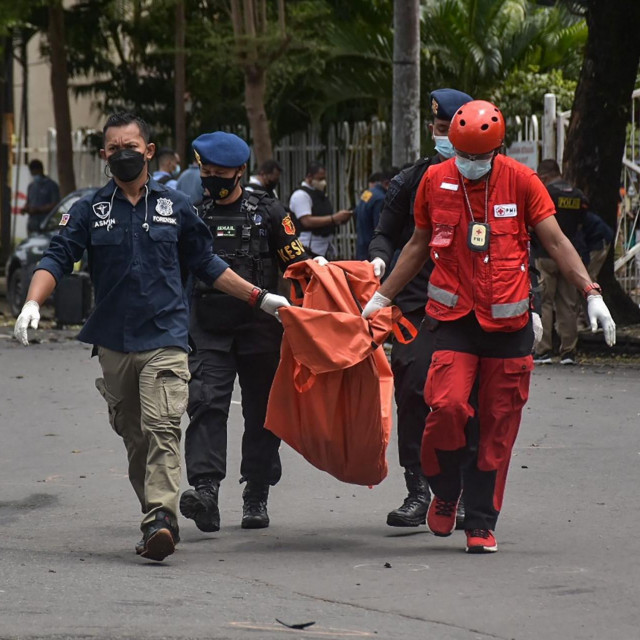 Poprište terorističkog napada u indonezijskom gradu Makassaru