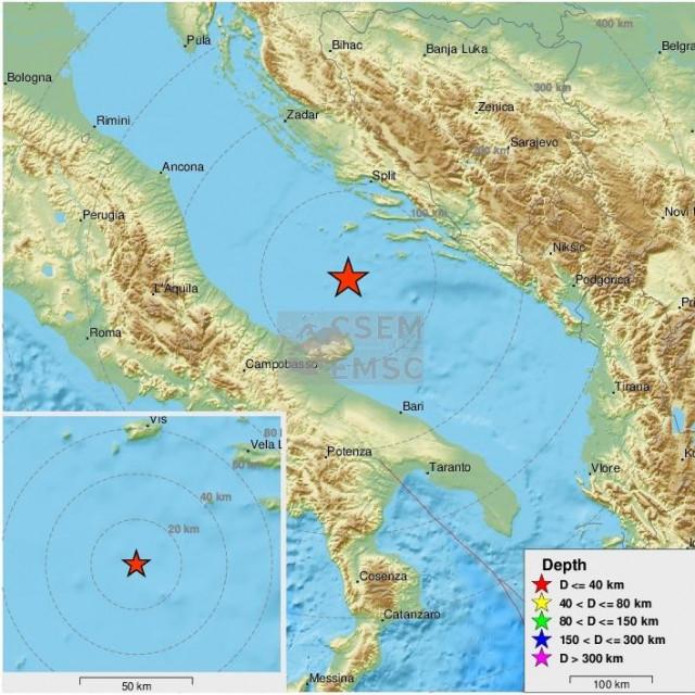 Potres u Jadranskom moru