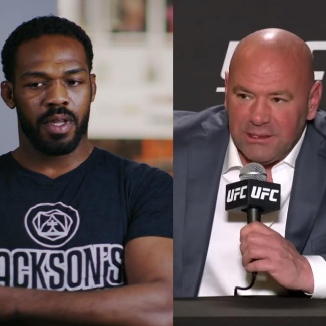 Jon Jones i Dana White