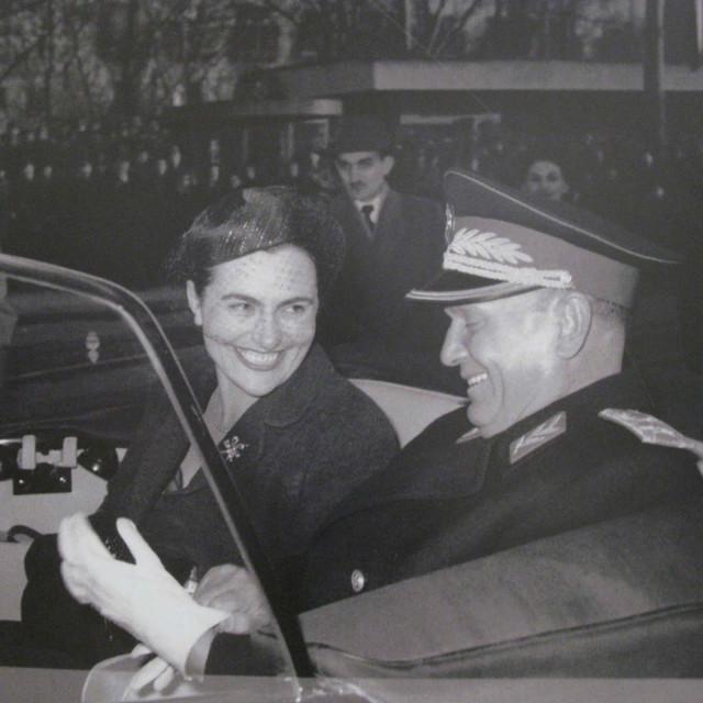 Jovanka Broz i Josip Broz Tito.