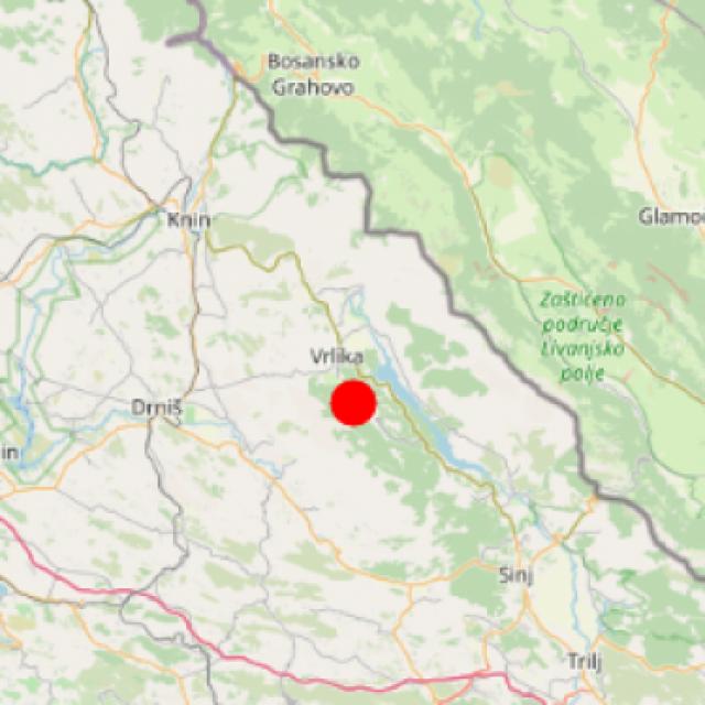 Potres s epicentrom kod Vrlike