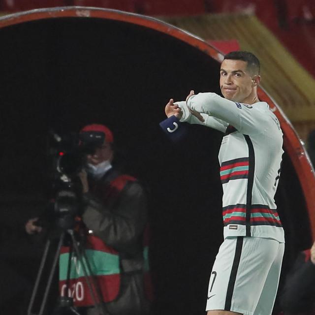 Cristiano Ronaldo bacio je kapetansku vrpcu u Beogradu