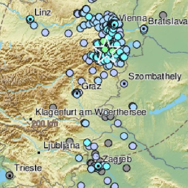 Potres pokraj Bečkog Novog Mjesta