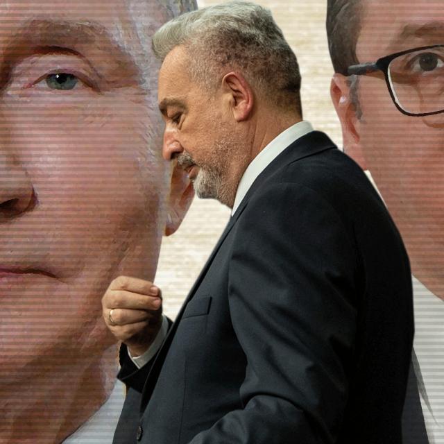 Vladimir Putin, Zdravko Krivokapić i Aleksandar Vučić