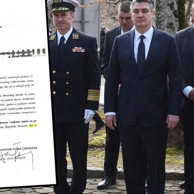 Zoran Milanović u Plitvicama (na glavnoj fotografiji), dopis iz MUP-a Uredu predsjednika (lijevo)