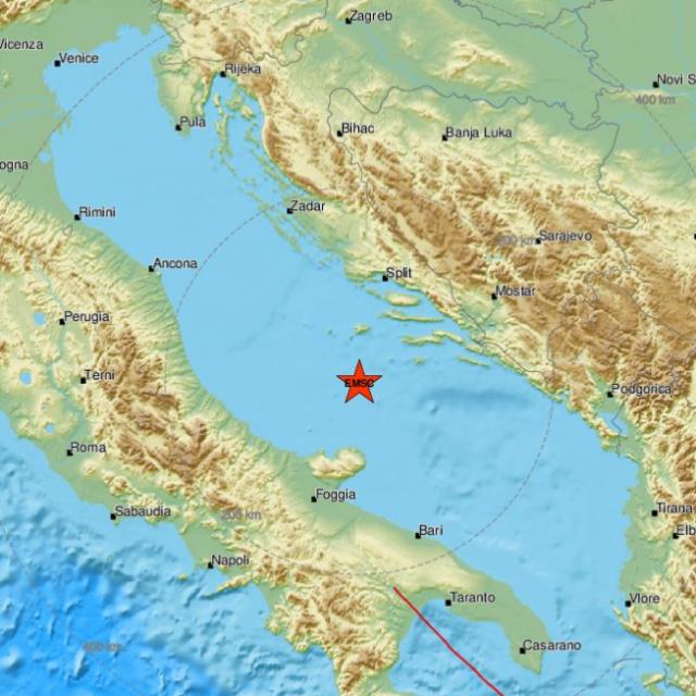 Potres s epicentrom u Jadranskom moru