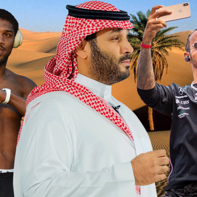 Anthony Joshua, Mohamed bin Salman i Lewis Hamilton