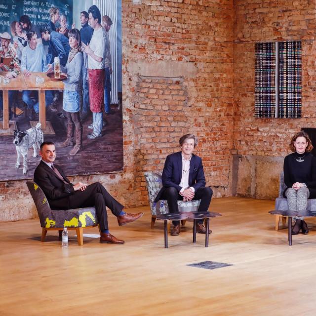 Tihomir Ladišić, Boris Vlašić, Nina Obuljen Koržinek i Marko Rakar