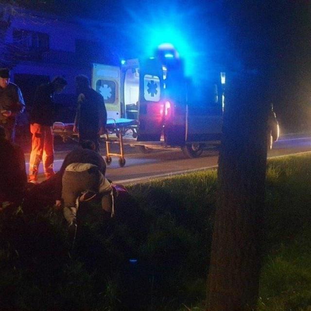 Ekipa Hitne medicinske pomoći na mjestu nesreće u Jelačićevoj ulici u Daruvaru