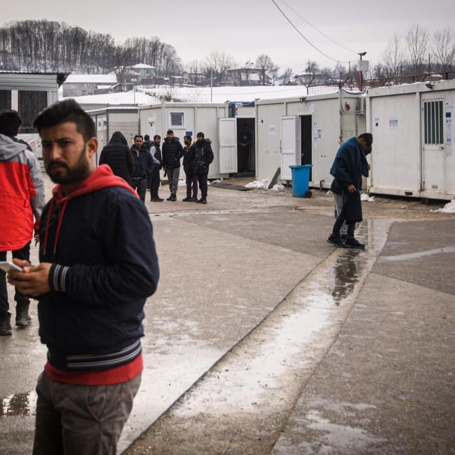 Migrantski kamp u BiH/Ilustracija