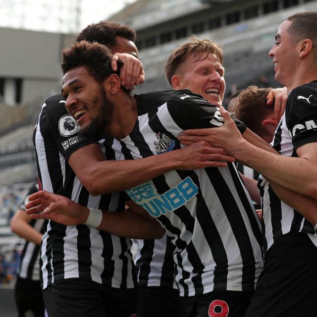 Slavlje igrača Newcastlea