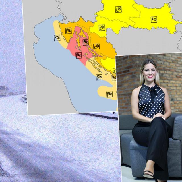 Zimski uvjeti na cestama, Tea Blažević (u okviru)