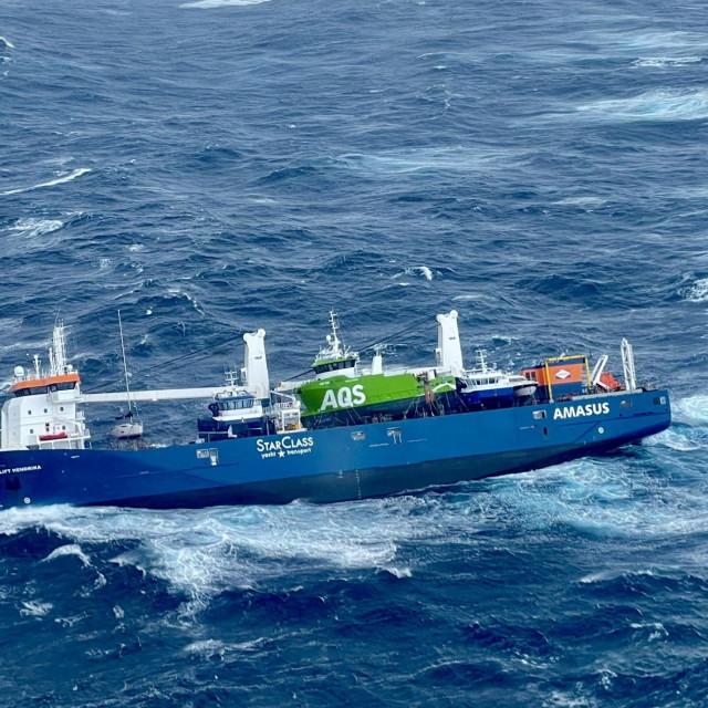 Brodu u Sjevernom moru prijeti potonuće