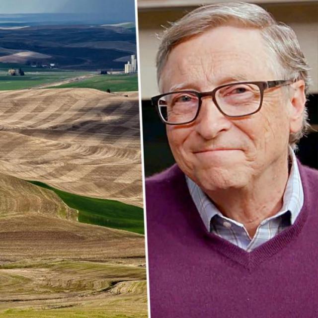 Ilustracija: Zemlja u istočnom Washingtonu i Bill Gates