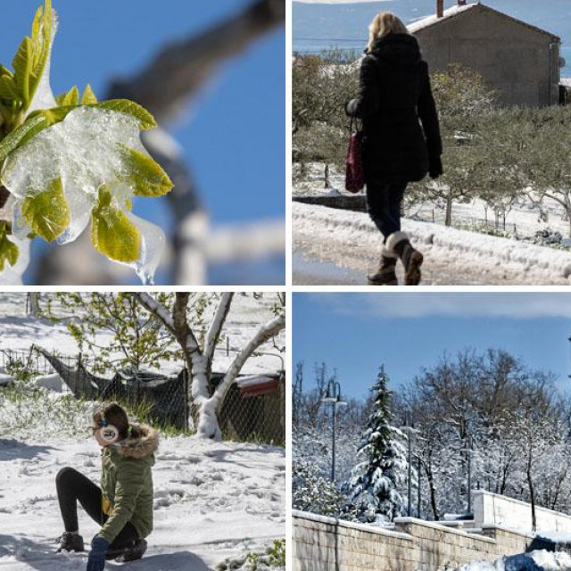 Dalmatinska Zagora pod snijegom