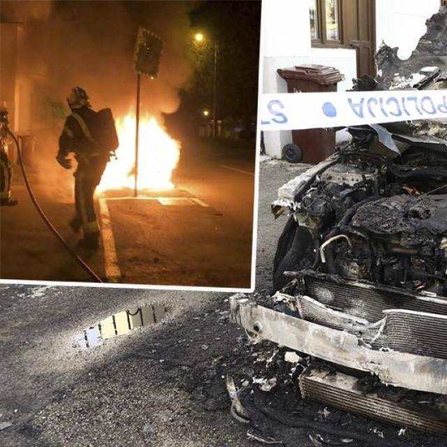 U Ulici Božidara Adžije izgorio je automobil marke Mercedes