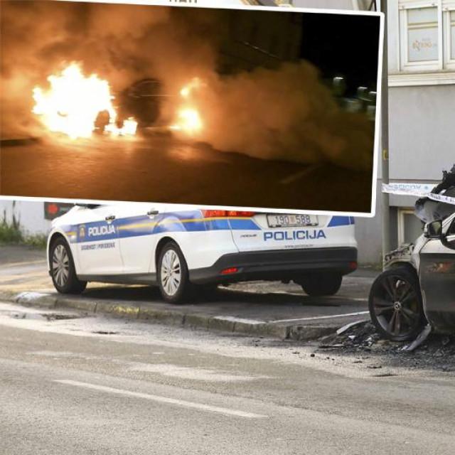 U ulici Božidara Adžije 5 izgorio je automobil marke Mercedes.