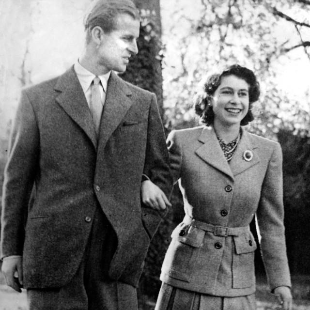 Princ Philip i kraljica Elizabeta 1947.
