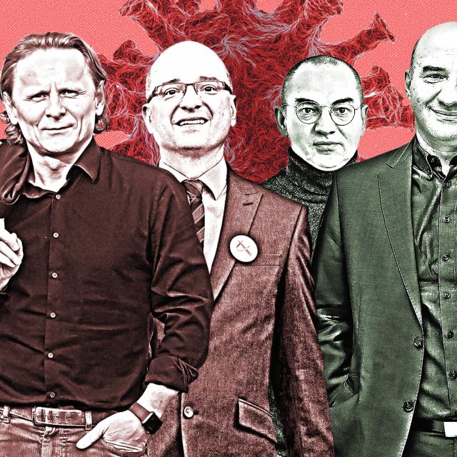 Igor Štagljar, Ivan Đikić, Igor Rudan, Nenad Bakić, Gordan Lauc i Dragan Primorac
