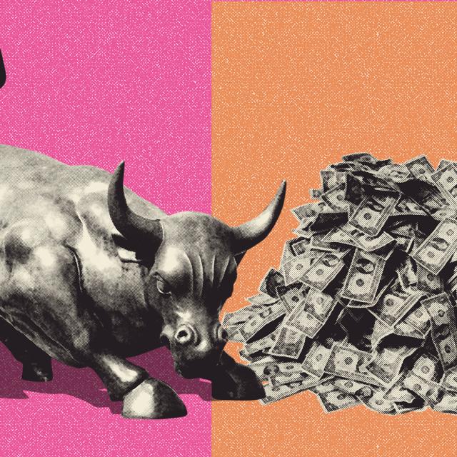 Ilustracija, Wall Street i novac