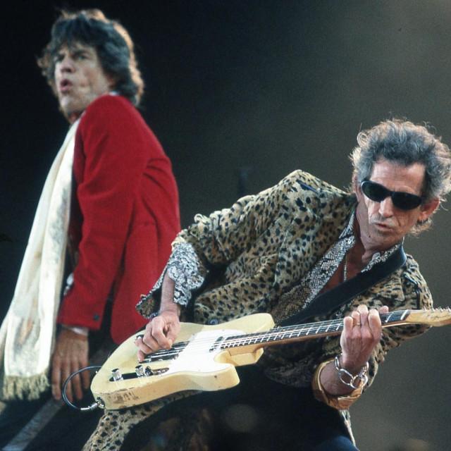Mick Jagger i Keith Richards na koncertu 1997.