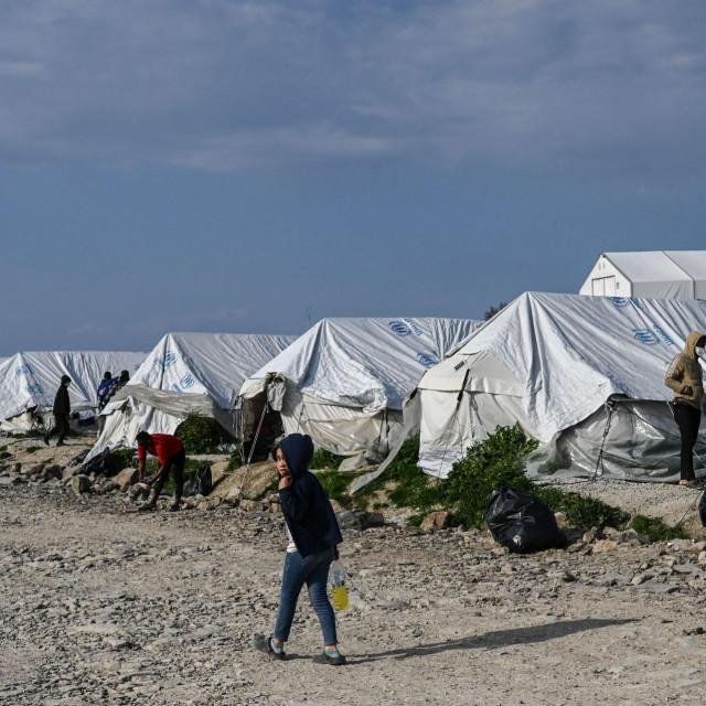 Jedan od migrantskih kampova na Lezbosu
