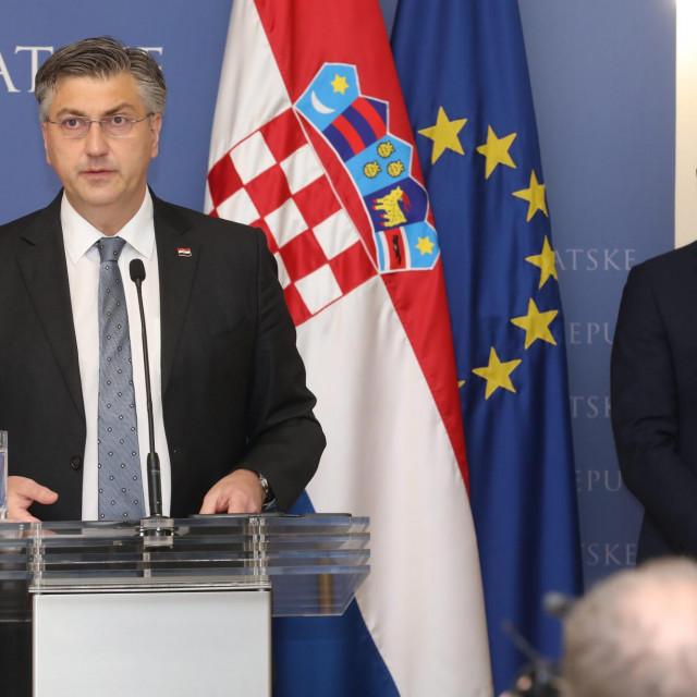 Andrej Plenković i Josip Aladrović