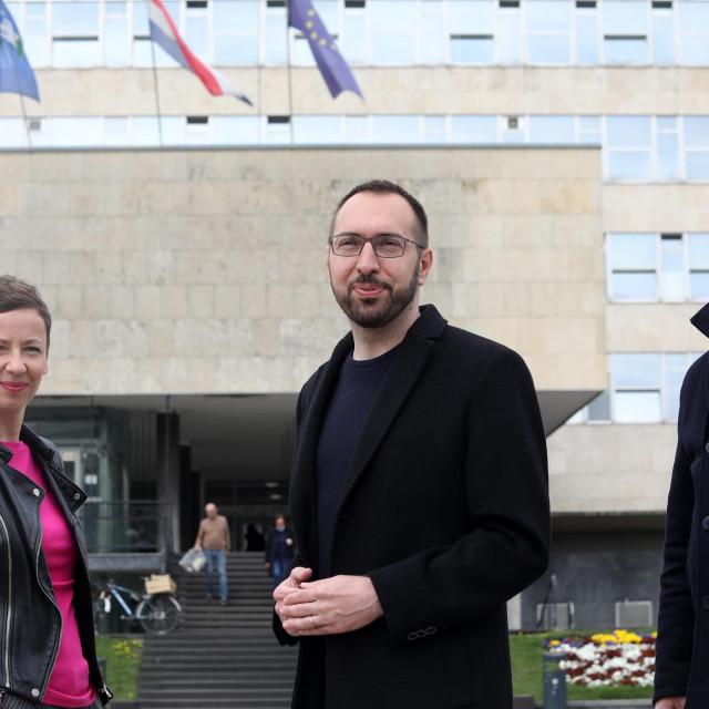 Danijela Dolenec, Tomislav Tomašević i Luka Korlaet