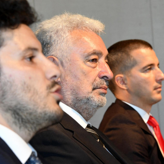 Dritan Abazović, Zdravko Krivokapić i Aleksa Bečić