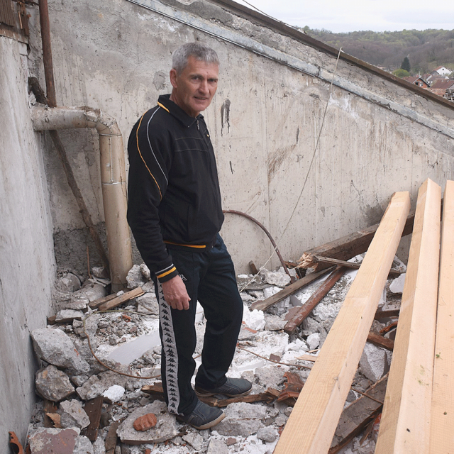 Željku Jambrešiću srušili dimnjak na stan