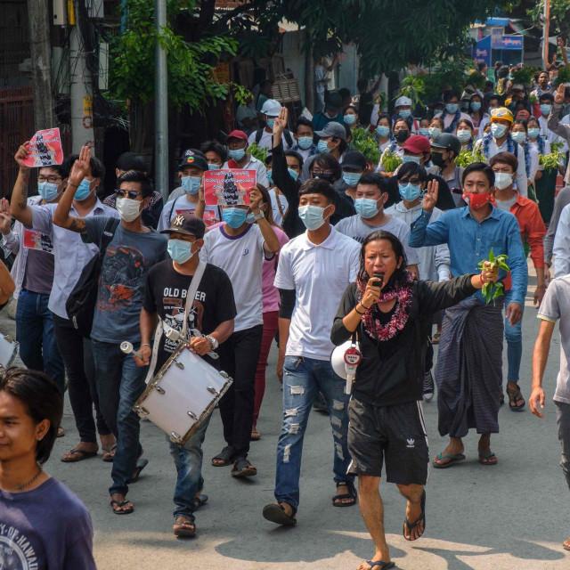 Prosvjedi u Mjanmaru