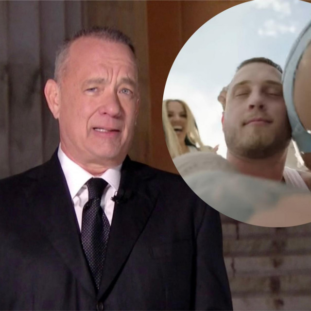Tom Hanks, njegov sin Chet (u krugu)