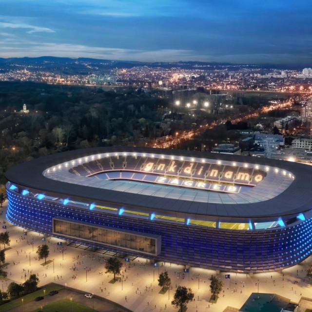 Na temelju materijala napravljenih od strane kluba, a usklađenih sa standardima UEFA-e, vizualni izgled stadiona u Maksimiru napravio je poznati zagrebački arhitekt g. Otto Barić, sa svojim partnerima iz specijalizirane tvrtke Polymachine.