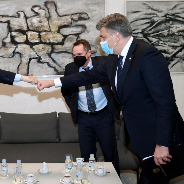 Saša Čokljat, Glen Moroney i Andrej Plenković