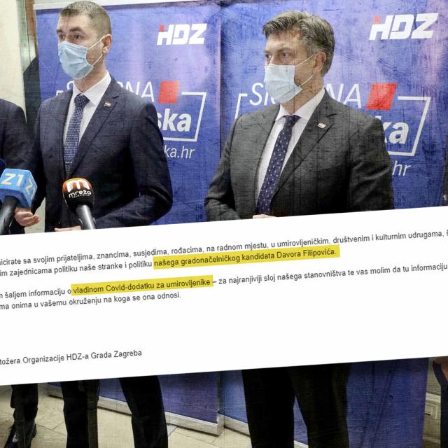 HDZ-ovci su dobili naputak da u kampanji za lokalne izbore hvale Vladin covid-dodatak namijenjen umirovljenicima