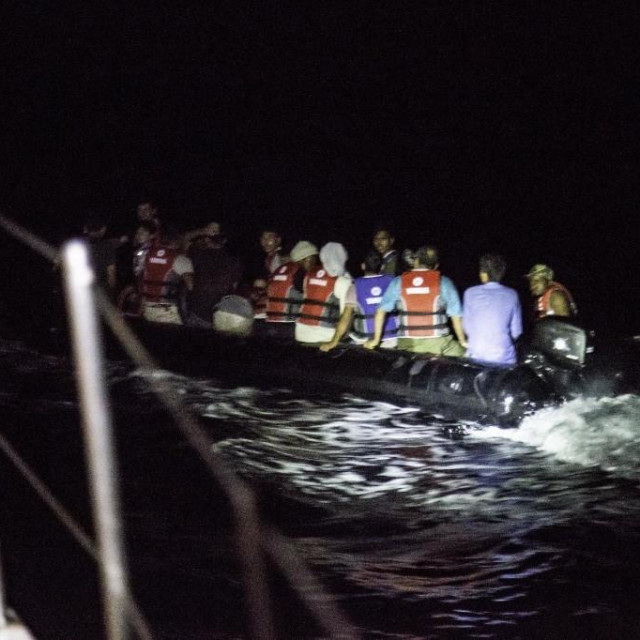 Migranti u grčkim vodama (ilustracija)
