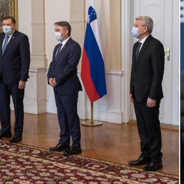 Susret Boruta Pahora s članovima Predsjedništva BiH, Janez Janša