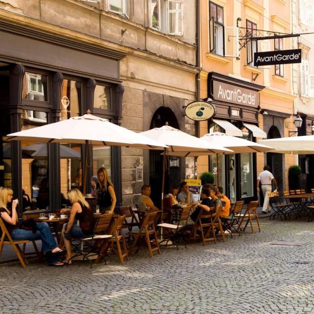 Kafići u Ljubljani; ilustracija