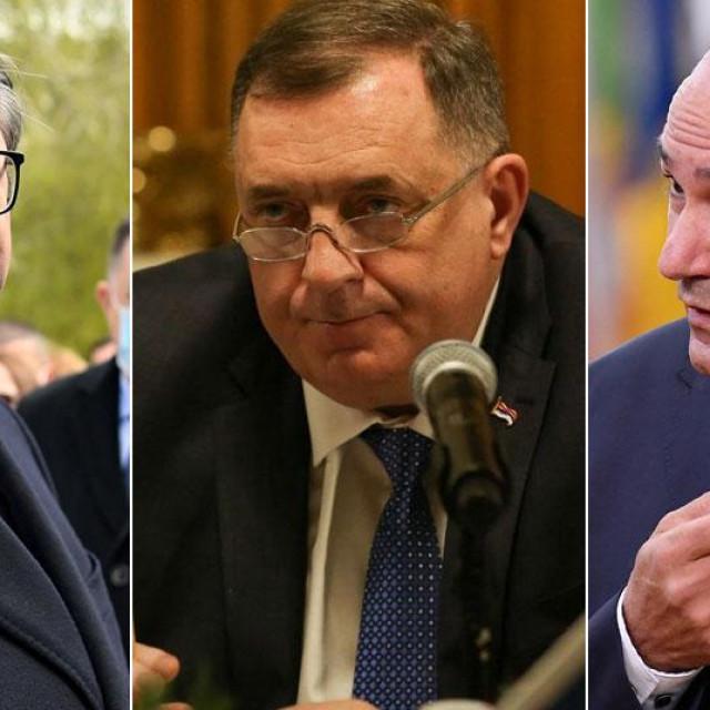 Aleksandar Vučić, Milorad Dodik i Janez Janša