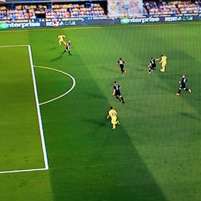 Sporan trenutak na utakmici Villarreal - Dinamo