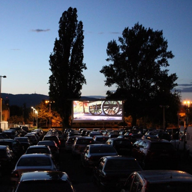DriveIn kino kod Kockice u Zagrebu
