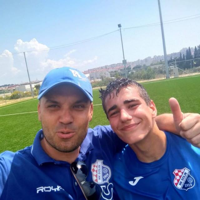 Mario Veljača s bivšim trenerom u omladinskom pogonu Solina Antom Bobanom