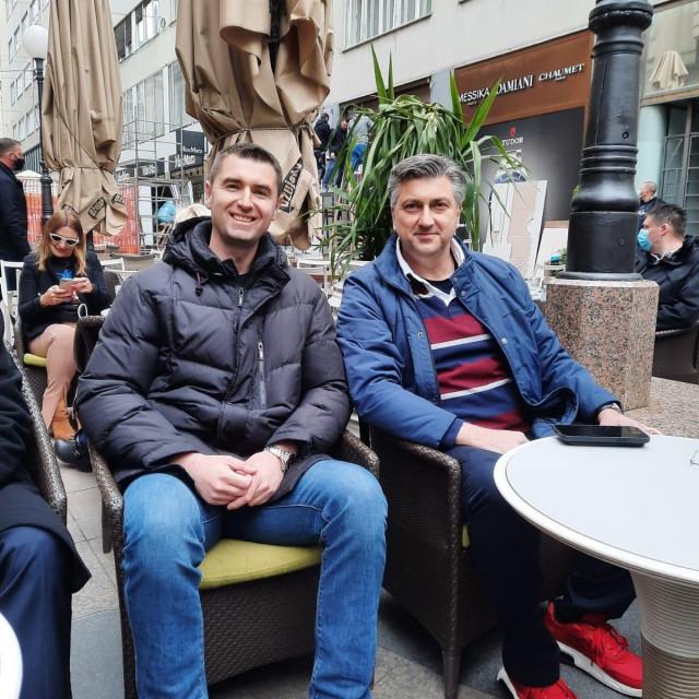 Davor Filipović i Andrej Plenković