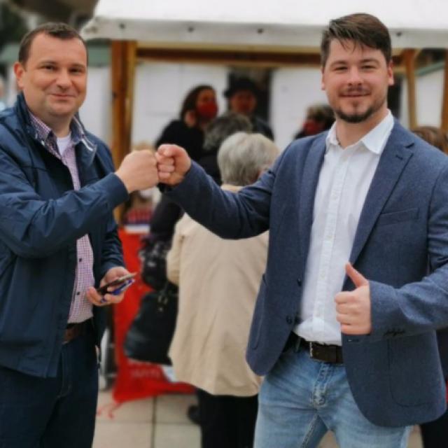 Protukandidati, HDZ-ov Damir Lneniček i SDP-ov Igor Jareš jedan drugom dali su podršku u nadolazećim izborima