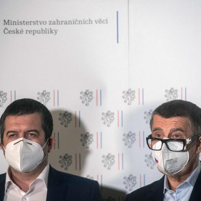 Andrej Babis i Jan Hamacek