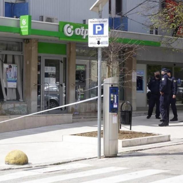 Policijski očevid nakon pokušaja pljačke u Imotskom