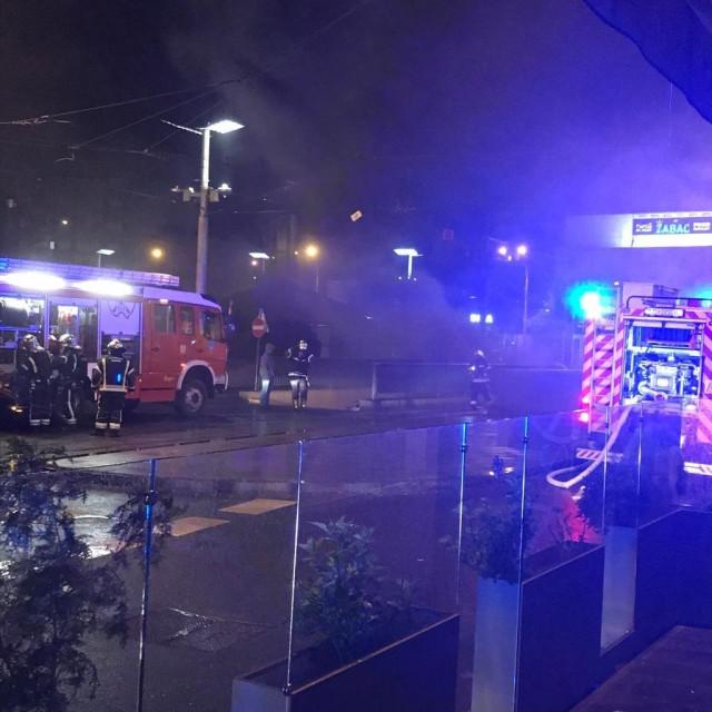 Požar u garaži na Kvatriću