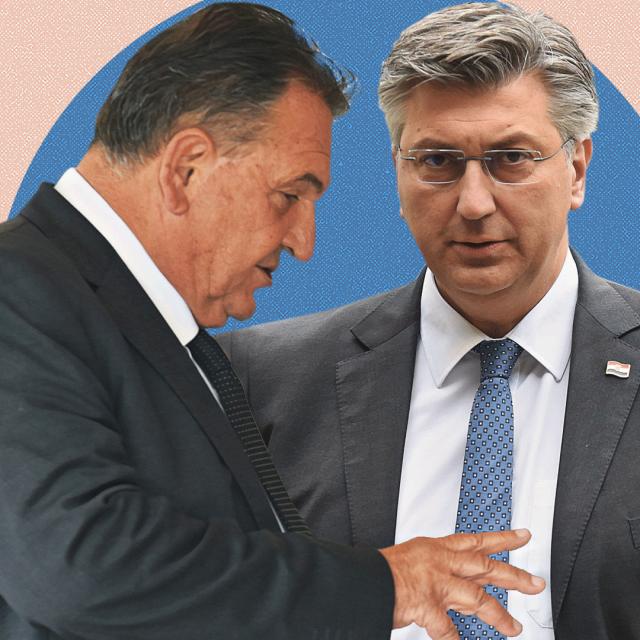 Radimir Čačić i Andrej Plenković